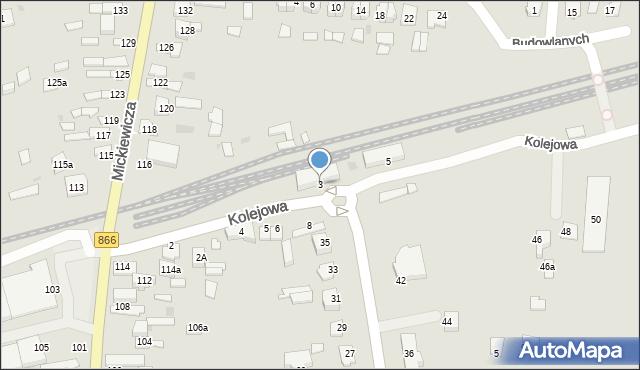 Lubaczów, Kolejowa, 3, mapa Lubaczów