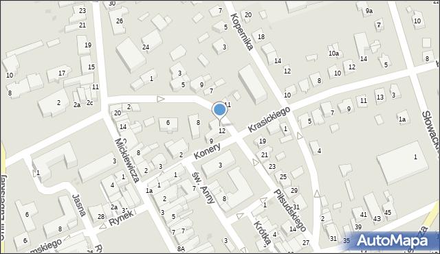 Lubaczów, Konery Stanisława, 6, mapa Lubaczów