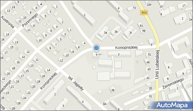 Lubaczów, Konopnickiej Marii, 7, mapa Lubaczów