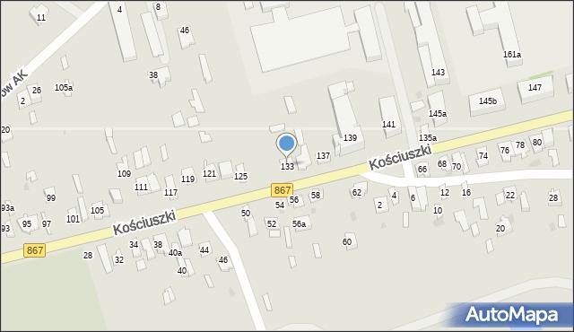 Lubaczów, Kościuszki Tadeusza, gen., 133, mapa Lubaczów