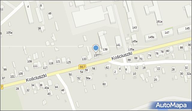Lubaczów, Kościuszki Tadeusza, gen., 137, mapa Lubaczów