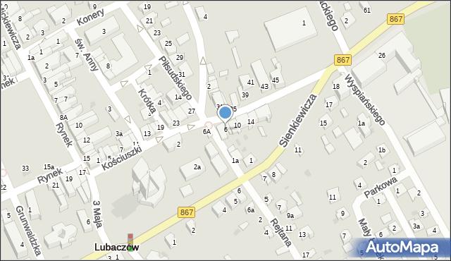 Lubaczów, Kościuszki Tadeusza, gen., 6, mapa Lubaczów