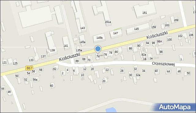 Lubaczów, Kościuszki Tadeusza, gen., 74, mapa Lubaczów