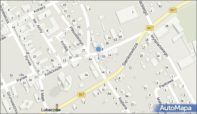 Lubaczów, Kościuszki Tadeusza, gen., 8, mapa Lubaczów