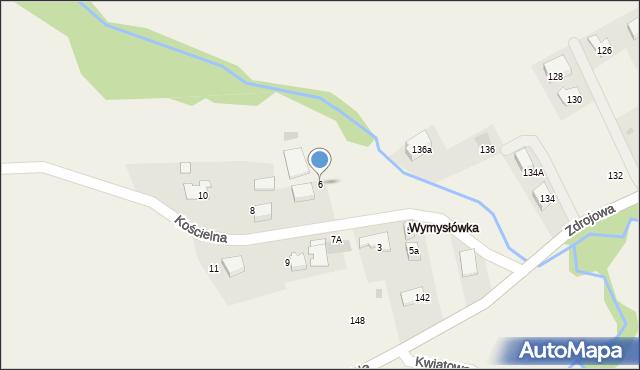 Lusina, Kościelna, 6, mapa Lusina