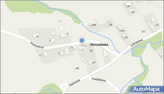 Lusina, Kościelna, 7, mapa Lusina
