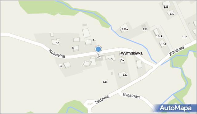 Lusina, Kościelna, 7A, mapa Lusina