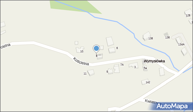 Lusina, Kościelna, 8, mapa Lusina