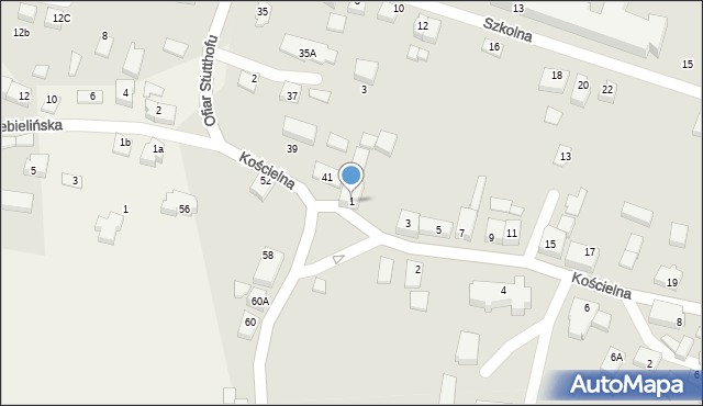 Luzino, Kościelna, 1, mapa Luzino