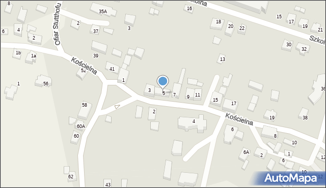 Luzino, Kościelna, 5, mapa Luzino