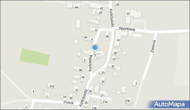 Miękinia, Kościelna, 1, mapa Miękinia