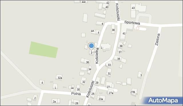 Miękinia, Kościelna, 2, mapa Miękinia