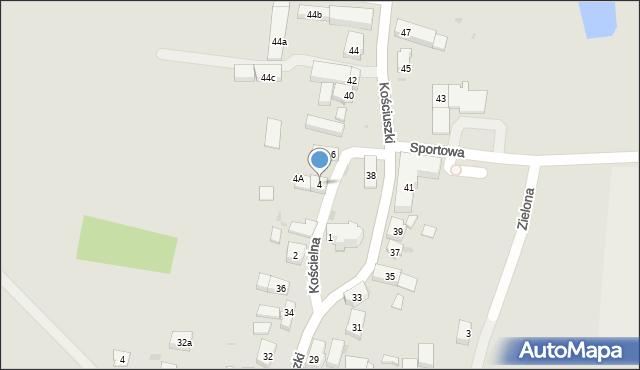 Miękinia, Kościelna, 4, mapa Miękinia