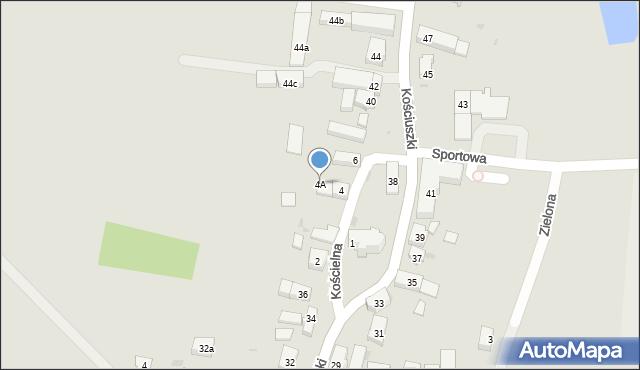 Miękinia, Kościelna, 4A, mapa Miękinia
