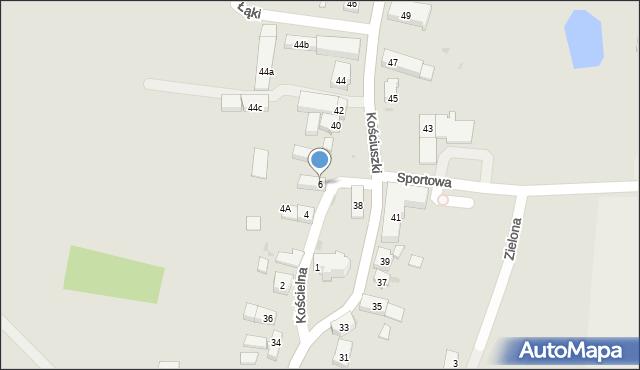 Miękinia, Kościelna, 6, mapa Miękinia