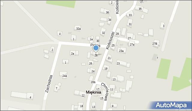 Miękinia, Kościuszki Tadeusza, gen., 28, mapa Miękinia