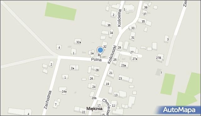 Miękinia, Kościuszki Tadeusza, gen., 30A, mapa Miękinia