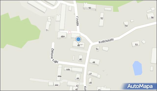 Miękinia, Kościuszki Tadeusza, gen., 48, mapa Miękinia
