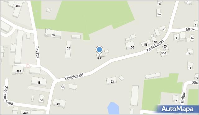 Miękinia, Kościuszki Tadeusza, gen., 54, mapa Miękinia
