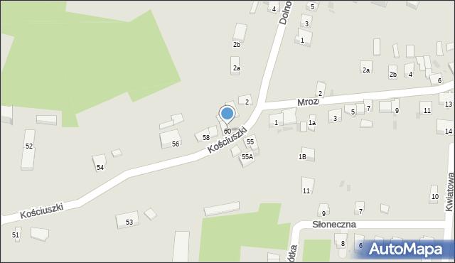 Miękinia, Kościuszki Tadeusza, gen., 60, mapa Miękinia