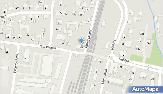 Mogilno, Konopnickiej Marii, 1a, mapa Mogilno