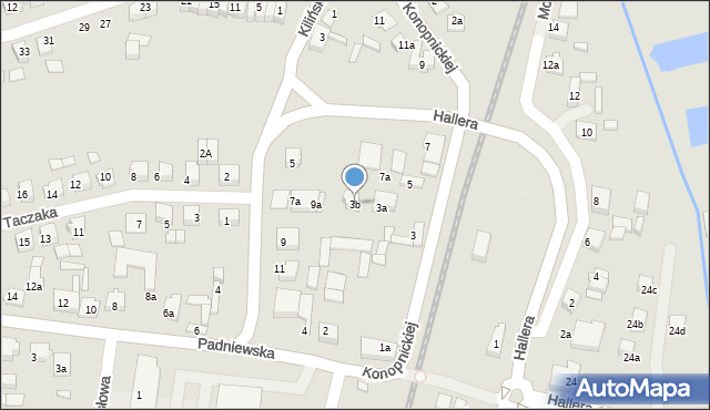 Mogilno, Konopnickiej Marii, 3b, mapa Mogilno