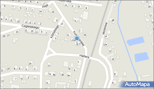 Mogilno, Konopnickiej Marii, 9, mapa Mogilno