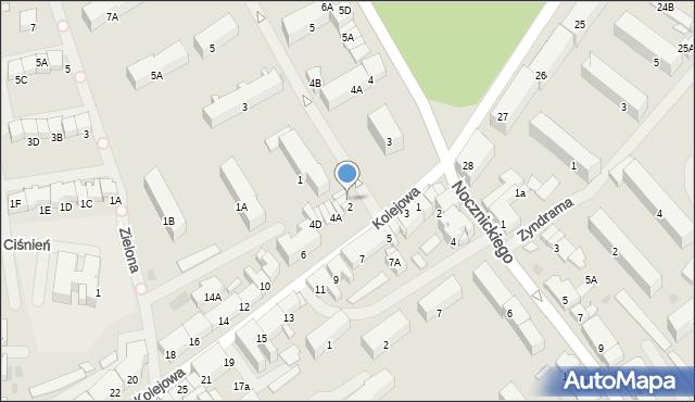 Olecko, Kolejowa, 2A, mapa Olecko