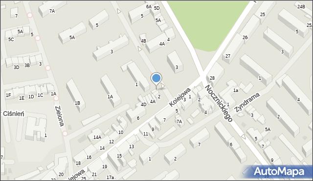 Olecko, Kolejowa, 2B, mapa Olecko
