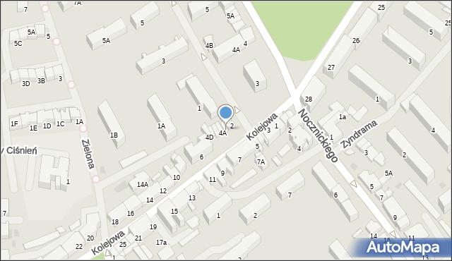 Olecko, Kolejowa, 4, mapa Olecko