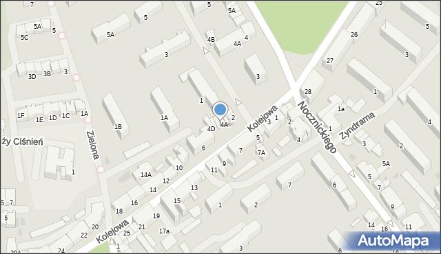 Olecko, Kolejowa, 4B, mapa Olecko