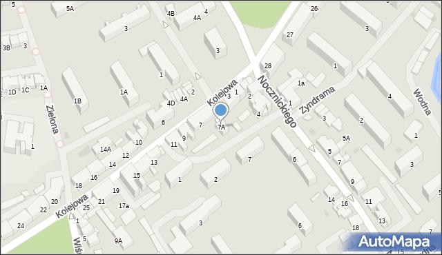 Olecko, Kolejowa, 7A, mapa Olecko