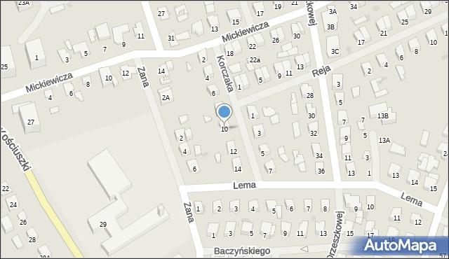 Olecko, Korczaka Janusza, 10, mapa Olecko