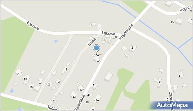 Poręba, Kopalniana, 10A, mapa Poręba