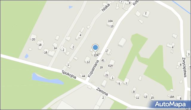 Poręba, Kopalniana, 12A, mapa Poręba