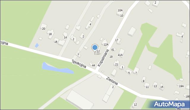 Poręba, Kopalniana, 16, mapa Poręba