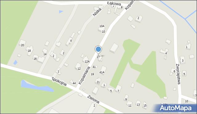 Poręba, Kopalniana, 17, mapa Poręba