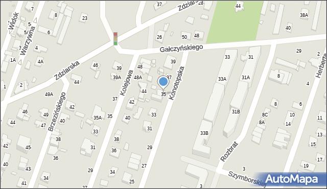Pruszków, Konotopska, 35, mapa Pruszków