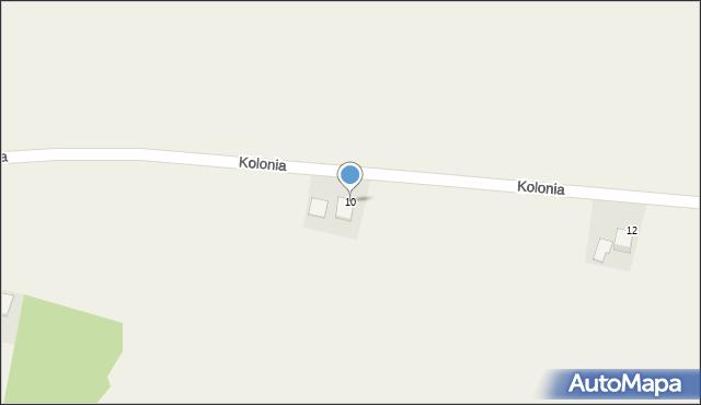 Przeciszów, Kolonia, 10, mapa Przeciszów