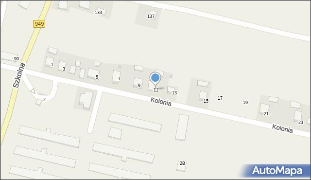 Przeciszów, Kolonia, 11, mapa Przeciszów
