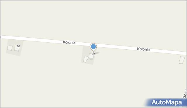 Przeciszów, Kolonia, 12, mapa Przeciszów