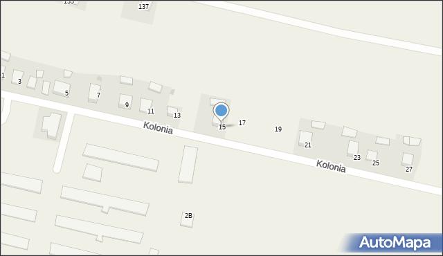 Przeciszów, Kolonia, 15, mapa Przeciszów