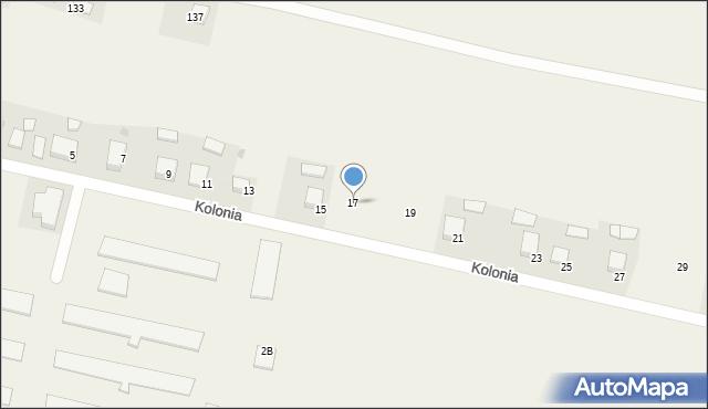 Przeciszów, Kolonia, 17, mapa Przeciszów
