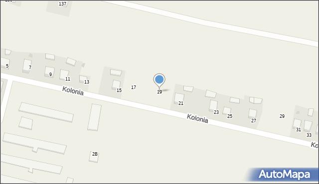 Przeciszów, Kolonia, 19, mapa Przeciszów