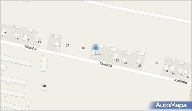 Przeciszów, Kolonia, 21, mapa Przeciszów