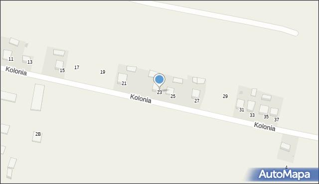 Przeciszów, Kolonia, 23, mapa Przeciszów