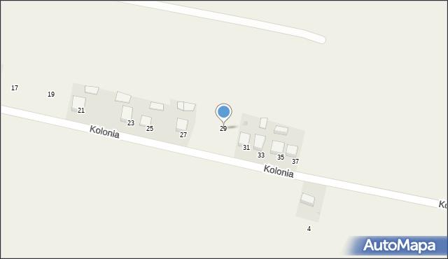 Przeciszów, Kolonia, 29, mapa Przeciszów