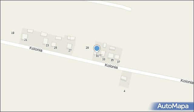 Przeciszów, Kolonia, 31, mapa Przeciszów