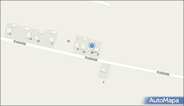 Przeciszów, Kolonia, 35, mapa Przeciszów