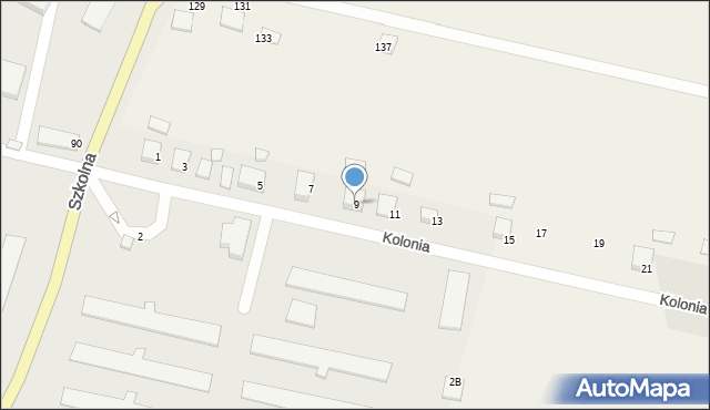 Przeciszów, Kolonia, 9, mapa Przeciszów